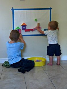 Four Foam Block Building Ideas that involve sensory experiences and new building challenges for kids. Preschool and baby friendly ideas. - in the bath too? Toddler Play, Baby Play, Toddler Crafts, Toddler Stuff, Infant Toddler, Kid Crafts, Sensory Activities, Infant Activities, Preschool Activities