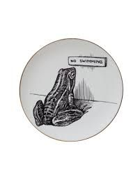 No Swimming - This fab frog brings humour to any room.