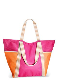Colorblock Beach Tote-Plus Size Tote-Avenue Swimwear 2015, Nylon Tote, Plus Size Swimwear, Color Blocking, Plus Size Fashion, Fashion Outfits, Casual Outfits, Purses, Boots