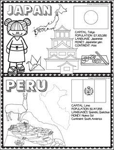Preschool Education, Classroom Activities, Activities For Kids, Geography Activities, Teaching Geography, Kids Around The World, Holidays Around The World, Japan For Kids, Kindergarten Colors