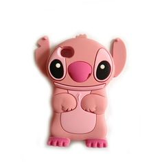 Pink Lovely Stereoscopic Stitch Case for iPhone 4/4S/5/5s