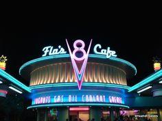 AMAZING photo tour of Flo's V-8 Cafe in Cars Land, Disneyland!