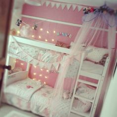 Sweet shared girls room.