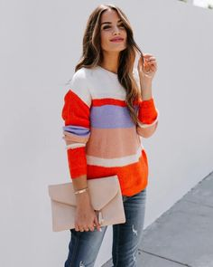 /collections/sweaters-1?page=2 Beige, Cold Weather, Color Blocking, Stripes, Turtle Neck, Knitting, My Style, Salmon, Crochet