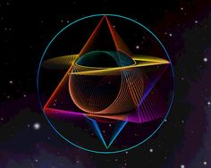 Sacred Geometry is a representation of the fabric of space, time, and life itself. Numerous ancient civilizations and religions based many ideas. Illusion Kunst, Optical Illusion Gif, Cool Optical Illusions, Illusion Art, Geometry Art, Sacred Geometry, Art Fractal, Les Chakras, Gif Pictures