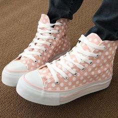Polka-Dotted Platform Canvas Sneakers from #YesStyle <3 Maymaylu Dreams YesStyle.com