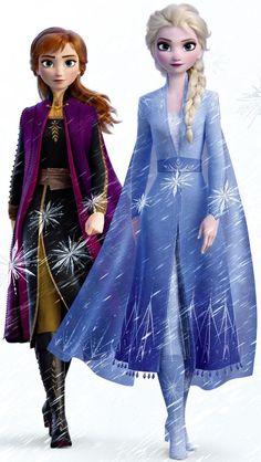 elsa frozen Frozen 2 Elsa and Anna - frozen Frozen Disney, Elsa Frozen, Princesa Disney Frozen, Frozen Movie, Frozen Bows, Anna Disney, Frozen Art, 2 Movie, Disney Princess Drawings