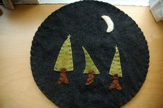 Wool trivet  Midnight in the Woods by LittleWool on Etsy