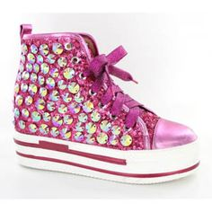 9bb09c516a49 Helens Heart Womens FS-TN001 Fucshia Sequin Sneakers Casual Shoes -  116.95  Pink High Tops