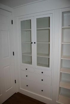 Ikea Hacked Hemnes Built ins.  Way to create a 'built in' butler's pantry. by katrina