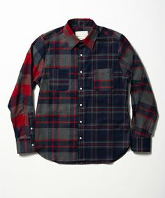 SEVESKIG CRAZY INDIGO CHECK SHIRTS