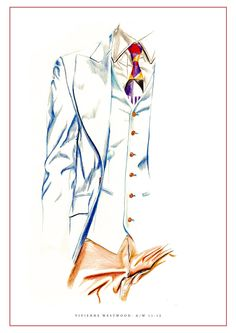 Vivienne Westwood illustration- Coloured pencil by Nas Abraham