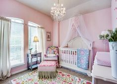 Baby Girl nursery by Marchelle Michel Home Design