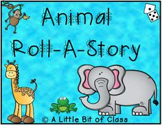 Animal Roll-A-Story Roll A Story, Second Grade, Language Arts, Middle School, Preschool, Sunshine, Classroom, Author, Templates