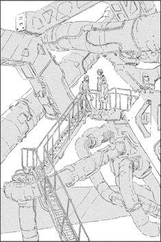 Graphic Novel Art, Cyberpunk City, Perspective Art, Drawing Expressions, Environment Concept Art, Animal Sketches, Panel Art, City Art, Anime Scenery