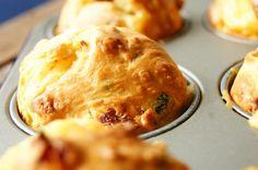 Muffins with cheese and chorizo