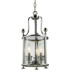 Z-Lite 134-3 Chrome Wyndham 3 Light Mini Pendant with Clear Shade