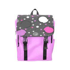 Pink Purple Circles Casual Shoulders Backpack (Model 1623)