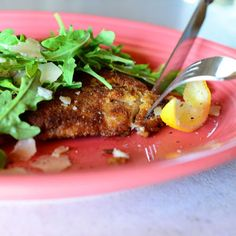 The Pioneer Woman - Chicken Milanese --- I don't know if I'd necessarily fry this in butter, though. Maybe.