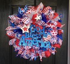 Hey, I found this really awesome Etsy listing at https://www.etsy.com/listing/227811689/fourth-of-july-wreath-deco-mesh-wreath