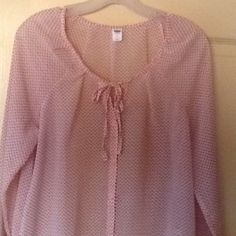 New Old Navy Sheer Blouse New Listing. This blouse is size Medium. It is made out of 100% polyester. Price firm. Old Navy Tops Blouses