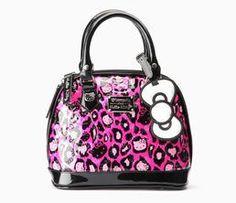 Hello Kitty Mini Handbag: Pink Leopard