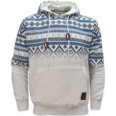 Tokyo Tigers Horten Aztec Print Pullover Hoodie Hoody Hooded Top Mens Size S-XL