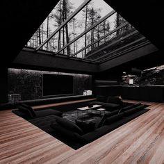 Home Building Design, Home Room Design, Dream Home Design, Modern House Design, Dream House Interior, Luxury Homes Dream Houses, Dark House, Dark Interiors, Dream Rooms