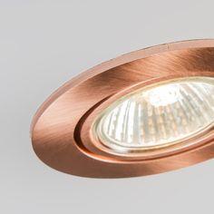 Foco empotrado CISCO cobre mate - Downlight de fácil instalación en un color muy elegante. Permite una amplia gama de de tipos de iluminación ya que usa casquillo de GU10 . Además al ser un modelo orientable permite enfocar donde usted más lo necesita.