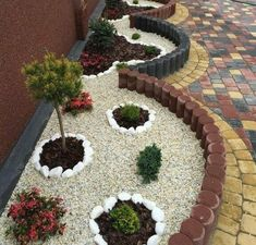 3 Adventurous Tips AND Tricks: Home Garden Ideas Simple small backyard garden spring.Small Backyard Garden Spring home garden ideas simple. Backyard Garden Landscape, Small Backyard Gardens, Unique Gardens, Beautiful Gardens, Gravel Garden, Garden Pond, Landscaping With Rocks, Front Yard Landscaping, Landscaping Ideas