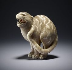 vintagemarlene:    standing tiger netsuke, circa 1700s, japan (this is in the british museum)