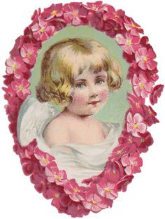 Wings Of Whimsy Pink Cherub Portrait