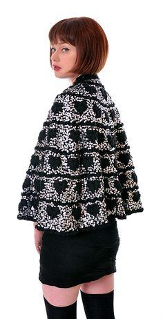Rare Sequinned Knit Cape | Damsel Vintage - 70s Vintage Fashion