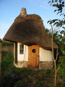 Micro casa de construção ecológica na Dinamarca.