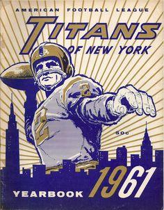 AFL game program (1961 Yearbook — New York Titans)
