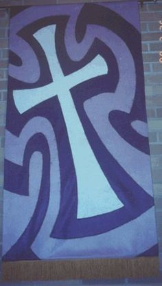 Cross Banner, Lent, North Salem Lutheran Church, Upper Sandusky, OH