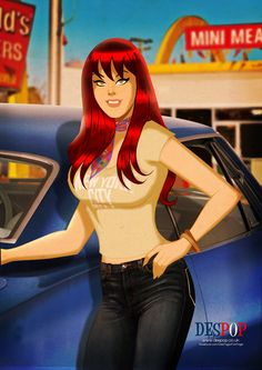 Mary Jane Watson comic book photos | despopart: Mary Jane Watson Circa 1977 by Des Taylor