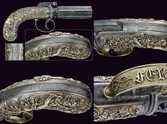 A rare pepperbox percussion revolver of royal property, provenance: Piedmont dating: mid-19th Century.