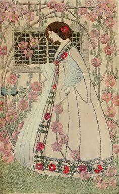 Чудесная вышивка в стиле модерн от Ann Macbeth - Ярмарка Мастеров - ручная работа, handmade