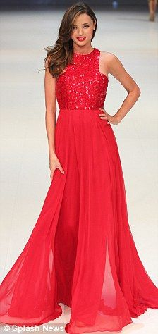 Gorgeous red, flowy dress, not sure who makes it