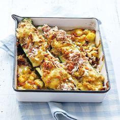 Zucchini mit Thunfisch-Reis