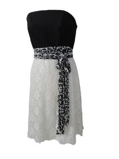 Dress with white lace