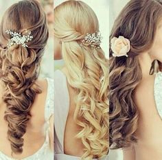 Because we all need some inspo for that big day. Here are a few shots with curls and clips.