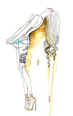 shu84: Sara Ligari Fashion Illustrations