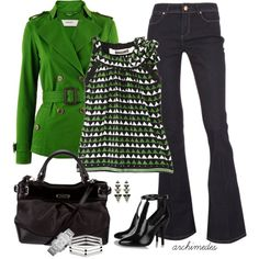 """Green Geometric"" by archimedes16 on Polyvore"