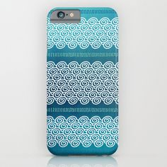 Abstract Ocean Waves Pattern iPhone & iPod Case by Sundressed - $35.00