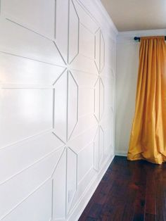 Applied wall trim, Young House Envy shows you how she made over her dining room with some math skills and a little wood trim.  Instant Architecture: Modern Wall Molding Patterns + Trim Ideas | Apartment Therapy