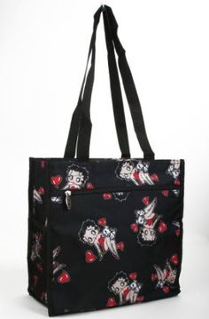 Red Hearts Betty Boop All Over Print Tote Bag,$24.98