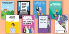 * NEW * Educational Quotes Posters - wonderful as an addition to your classroom display!