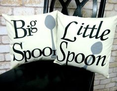 Big Spoon Little Spoon His and Hers Pillowcase and Pillow Insert Set …